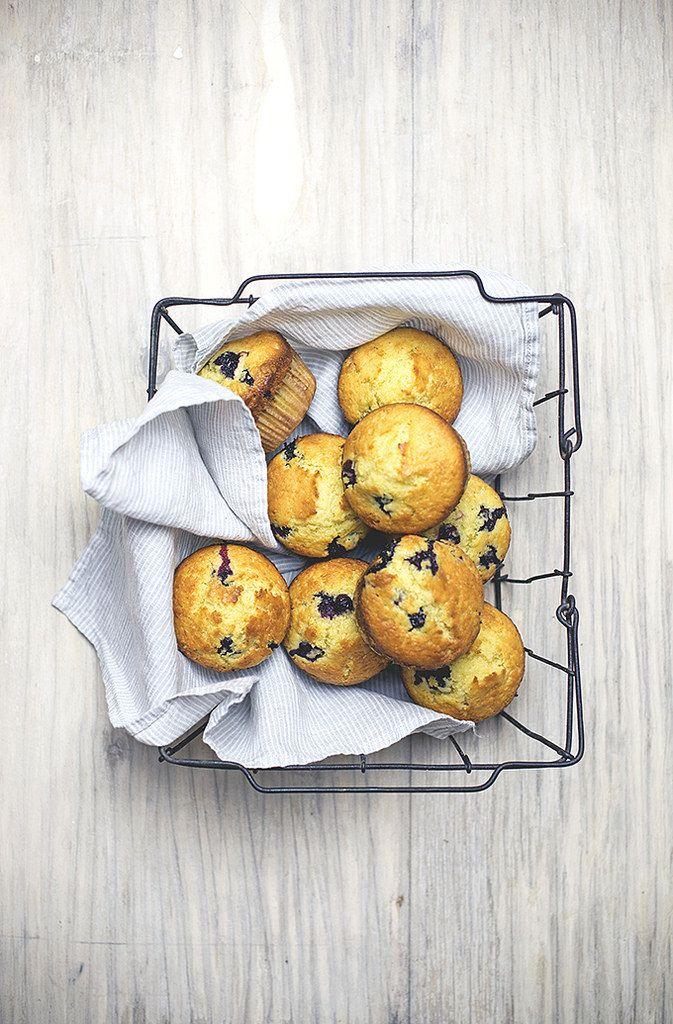 ... blueberry yogurt & lemon muffins ...