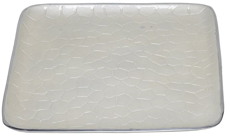 """Artisan d'Orient Classic 8"""" Square Tray, Color - Ivory"""