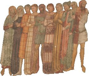 Check out the amazing colors and patterns!! Fresco anonymous Verona, first half of the fourteenth century, the Church of St. Anastasia, Verona - site is in Italian so you have to google translate but there's a lot of amazing pictures