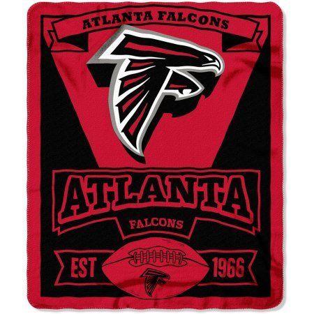 NFL Atlanta Falcons 50 inch x 60 inch Fleece Throw, Multicolor