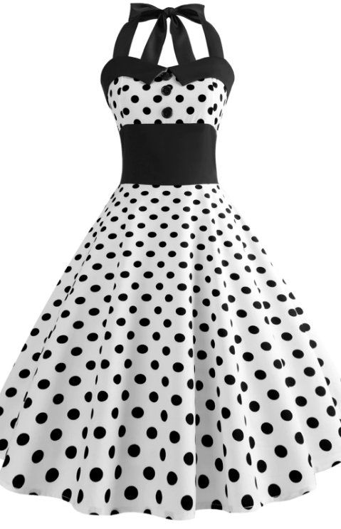 5fd0617d9f Halter Polka Dot Flare Dress (sponsored) Frases