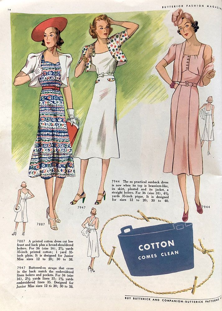 Butterick Sewing Pattern Book - Summer 1938 (Part 1 | retro fashion ...