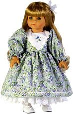 """Spring dress free pattern and tutorial for 18"""" doll from Janome @ www.janome.com"""