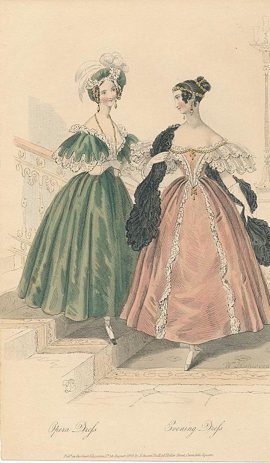 August, 1833 - Opera Dress, Evening Dress - Court Magazine