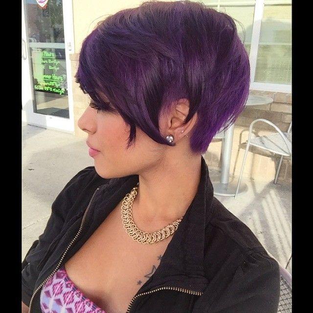 Un poco de color en su cabello! Cortes de pelo corto con hermosos colores!