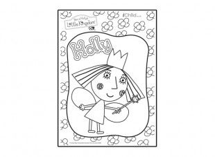 Print off this Holly colouring in picture from Ben & Holly's Little Kingdom, and let your child have fun colouring it in.