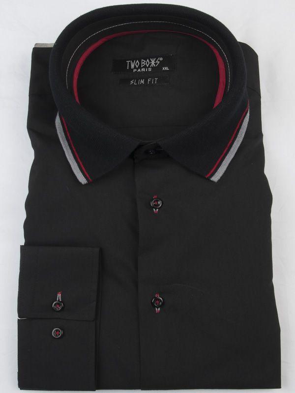 0002599 T& B Shirt-Black/Red