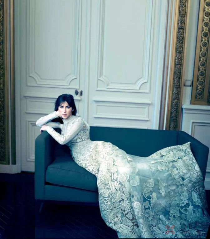 Sophie Hunter in a custom Valentino wedding gown, shot by Annie Leibovitz