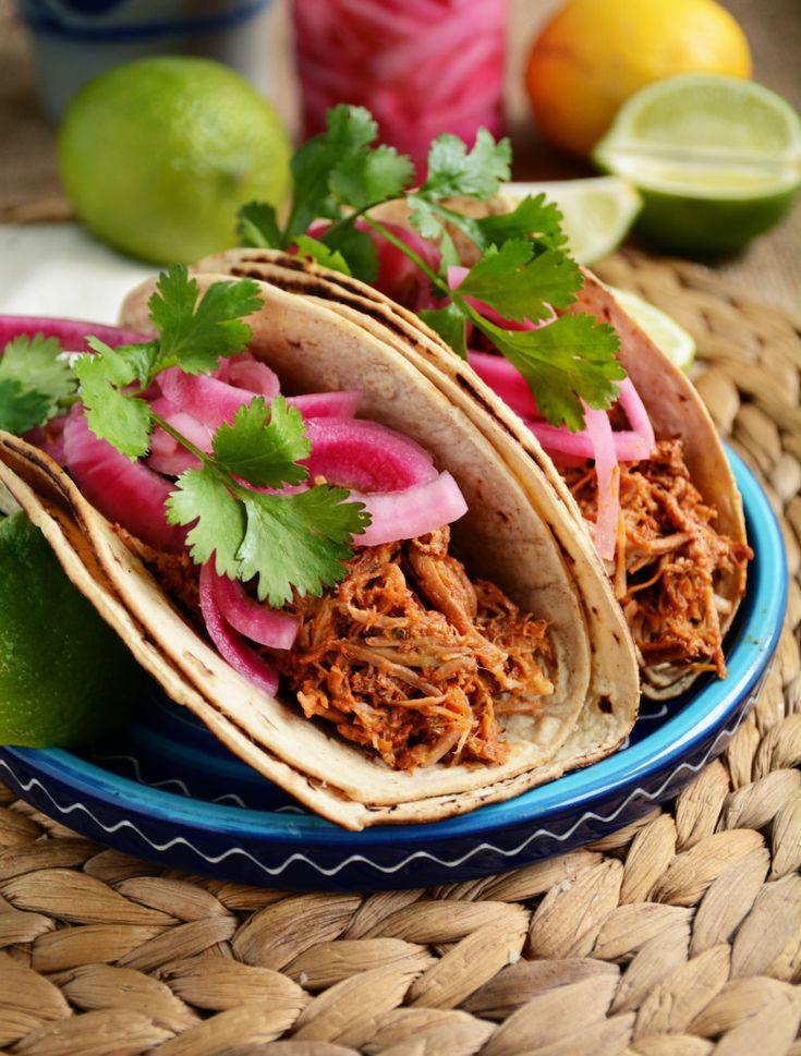 Slow Cooker Cochinita Pibil Tacos (Yucatan Pulled Pork)Cochinita pibil features…