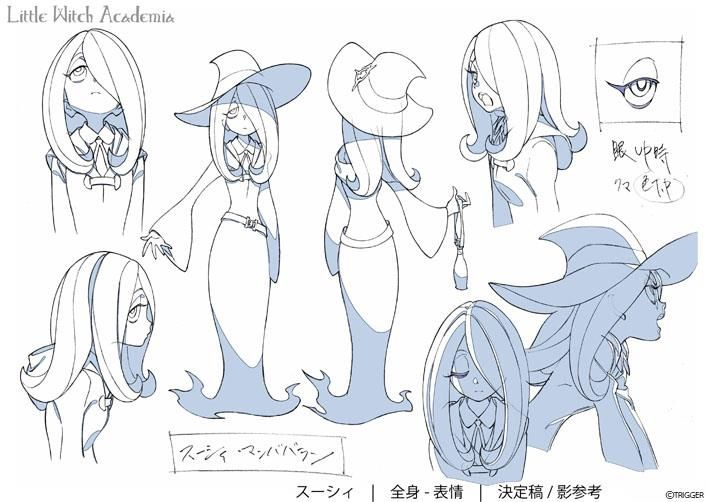 Character Design Reference Facebook : Little witch academia model sheet anime pinterest