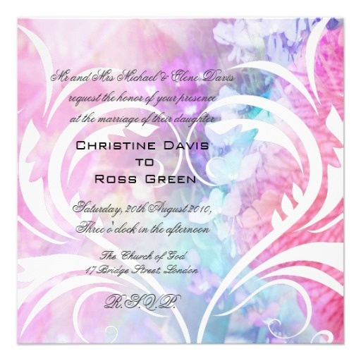35 best wi ultra violet images on pinterest weddings purple shop white heart pink blue violet wedding invitation created by personalize it with photos text or purchase as is stopboris Choice Image