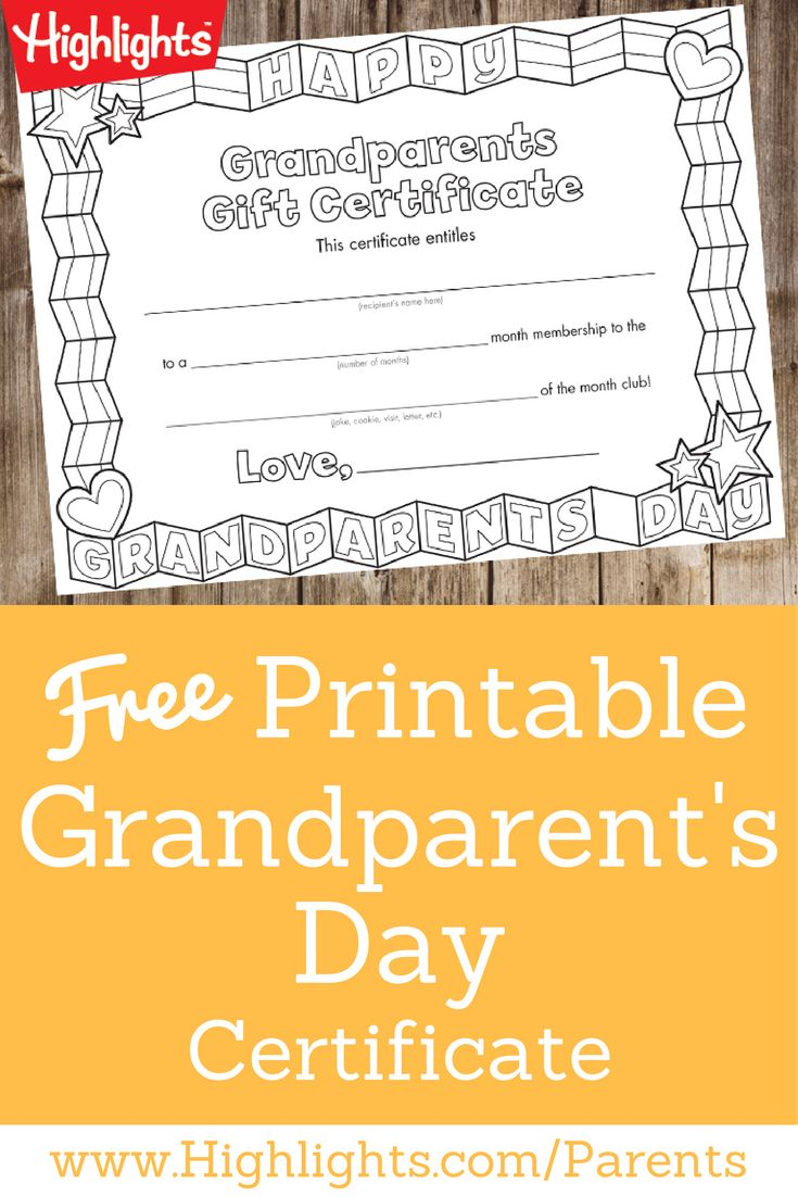 17 best ideas about printable gift certificates grandparent s day certificate certificate kidsprintable gift