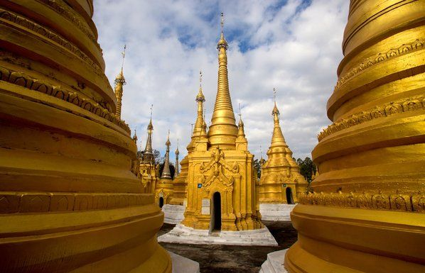 More from Amanda Jones: In the hill station town of Kalaw in Myanmar, the Shwe Oo Min Paya stupas have been restored to their former, richly colored glory.