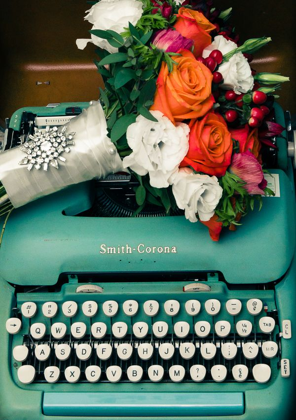 Aqua and Coral Retro Wedding Inspiration | Esenses Studio | See More! http://heyweddinglady.com/retro-fabulous-mad-men-wedding-styled-shoot-...