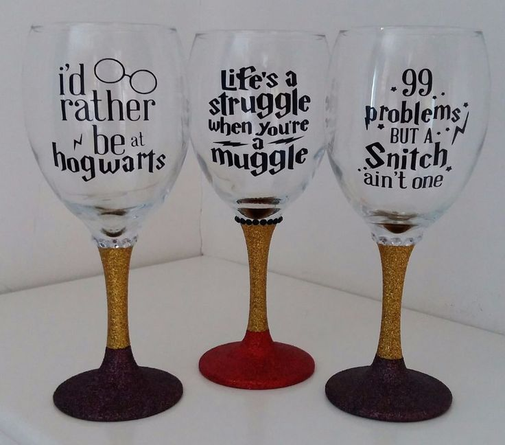 Harry Potter Dumbledore Gryffindor Muggles Glitter Wine Glass in Home, Furniture & DIY, Celebrations & Occasions, Other Celebrations & Occasions | eBay!