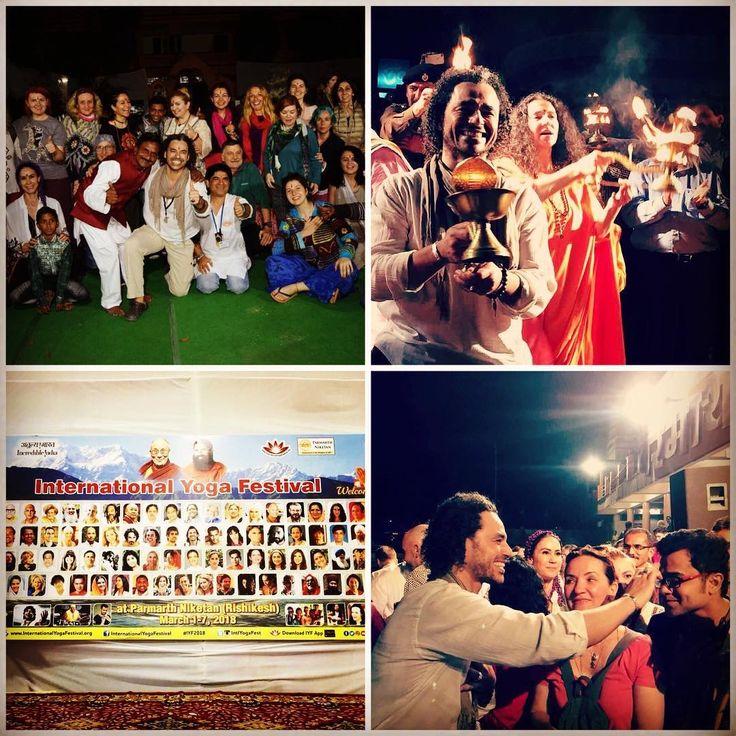 """""""Rumi Love Meditation"""" dersiyle ilk ve tek eğitmen olarak yer aldığım Rishikesh Uluslararası Yoga Festivali başladı 😍🌟🌺. İlk dersimiz bugün, fotoğrafları paylaşacağız 😍👌. Bu yıl 100 ülkeden 1000'in üzerinde katılımcının yer aldığı festivalde her yıl olduğu gibi ben ve grubum çok sıcak karşılandık. İlk gün Ganj Nehri kenarındaki gün batımı Aarti törenine katıldık. Bağlantıda kalmaya ve izlemeye devam edin 😍😍💚💚🙏🙏🦋🦋"""