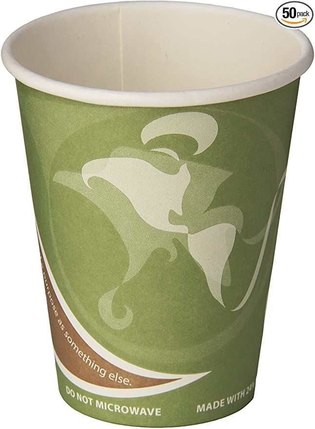 100PCS 6.5 oz Eco Paper Cup Disposable Nature Friendly Green Color For Health