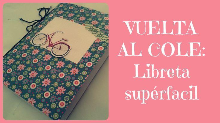 """Tenemos nuevo video tutorial: """"Libreta fácil decorada para la vuelta al cole""""  #scrap #manualidades #VueltaAlCole #crafts #libreta #CosasMonas"""