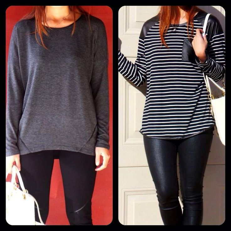 Grey Basic & Black & White Basic Tops yours for only $30.00 each