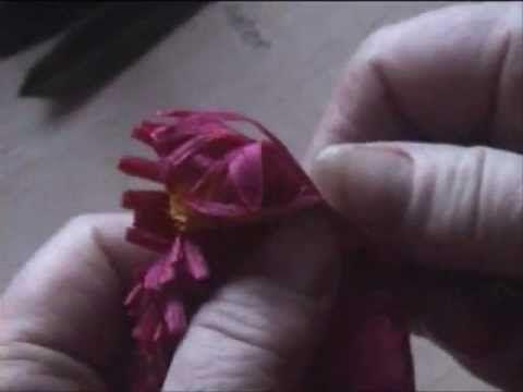 Fiori di carta crespa - Crepe paper flowers: Asteracee // Asteraceae // Астровые - YouTube
