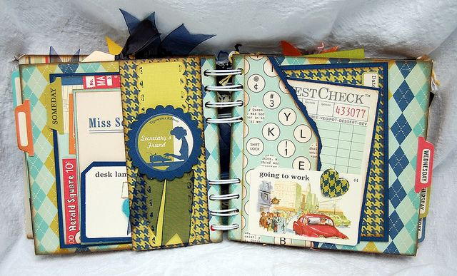 October Afternoon 9 to 5 Mini Album by Becky F. Garrison, via Flickr