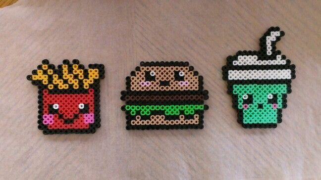 Perler beads McDonalds version #shamrockshake