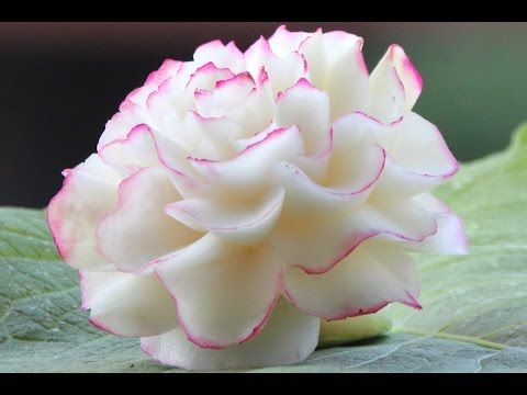 #18 Darmowy kurs carvingu piwonia z kalarepy / Free carving course kohlrabi peony - YouTube