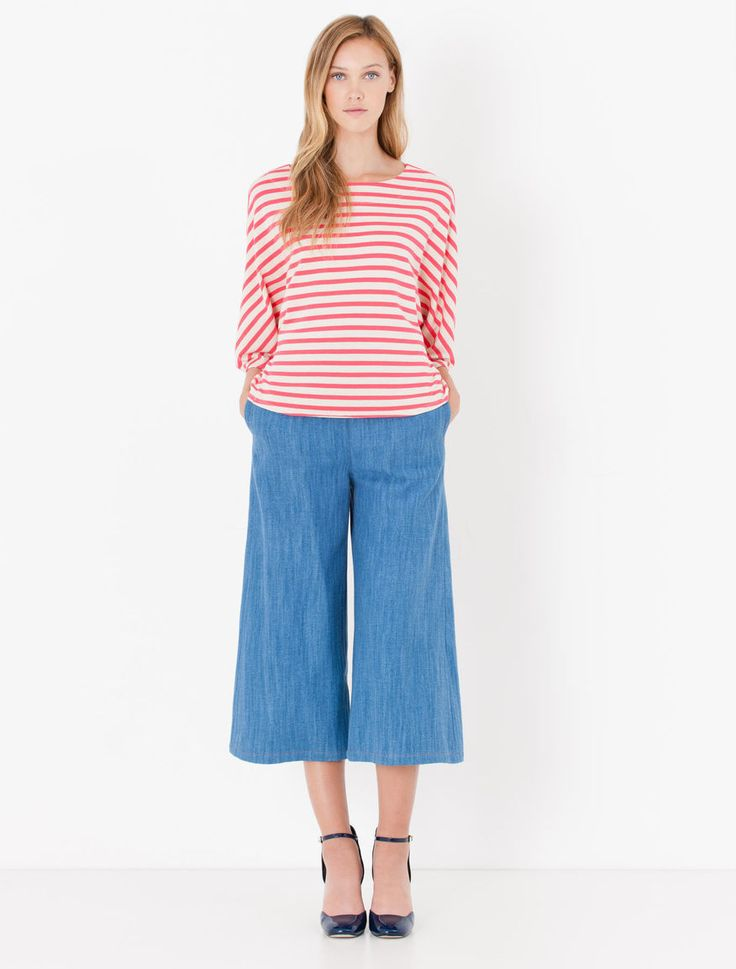 T-shirt batwing di jersey a righe Downtown Max&Co