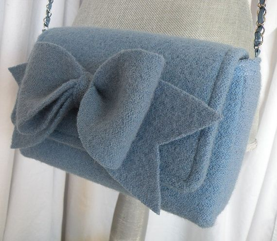 Felted Wool Purse with Bow by SummitviewOriginals on Etsy, $37.00