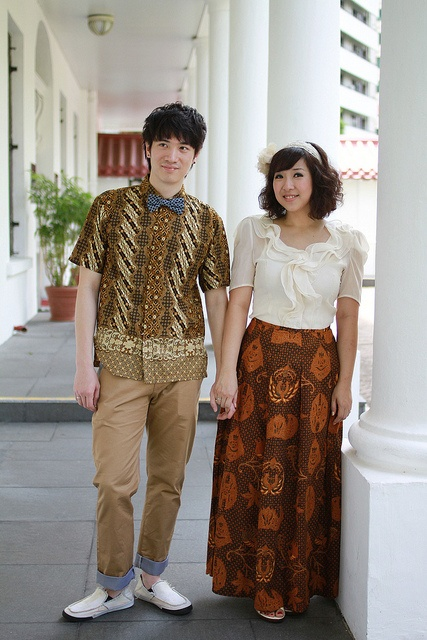 Batik Couple Outfit - Our ethnic chic attempt :D