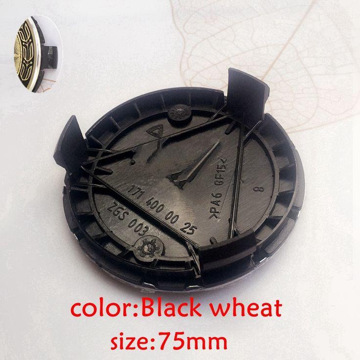4pcs 75mm black/silver/blue 3 pin Wheel center Hub Caps Cover cap Car Logo Emblem For Mercedes A B C CLA CLS G M R S 1714000025