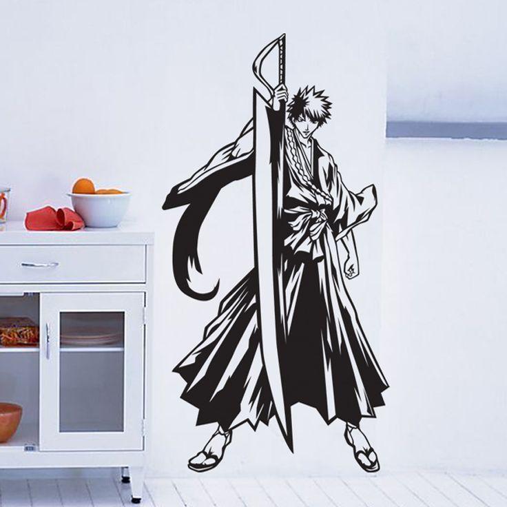 Bleach Japanese Cartoon Wall Stickers Decals Decors Decal Wall Poster Home Decor Bleach Decal