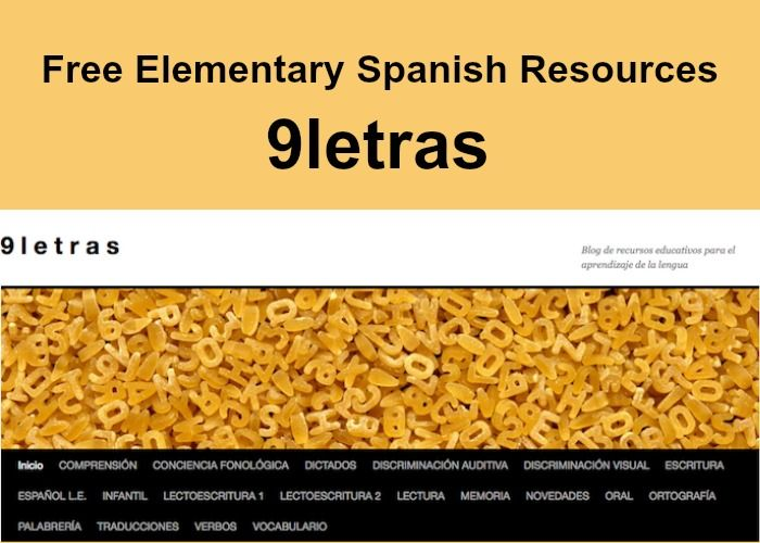 Free elementary Spanish resources: 9letras. Lots of printable activities for young Spanish learners! - Spanish Playground http://spanishplayground.net/free-elementary-spanish-9letras/