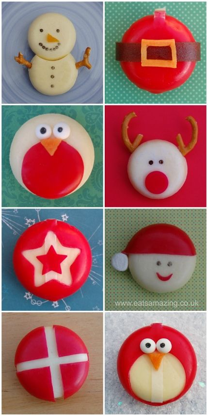 Fun and easy healthy Christmas food ideas - 8 festive Babybel cheese ideas for the kids from Eats Amazing UK