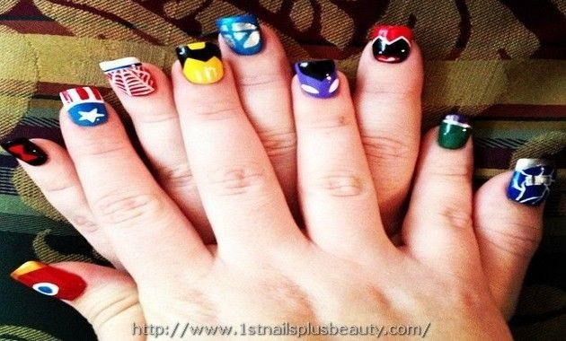 Marvel Nail Art Designs Picture