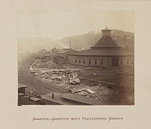 grafton, wv   Junction with Parkersburg Branch, Grafton, West Virginia, 1872