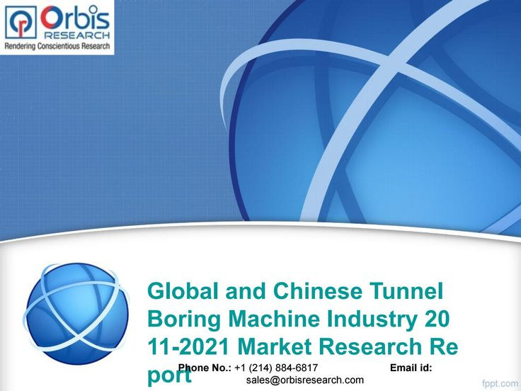 Forecast and Trend Analysis on Global and Chinese Tunnel Boring Machine Industry 2016 @ http://orbisresearch.com/reports/index/global-and-chinese-tunnel-boring-machine-industry-2011-2021-market-research-report .