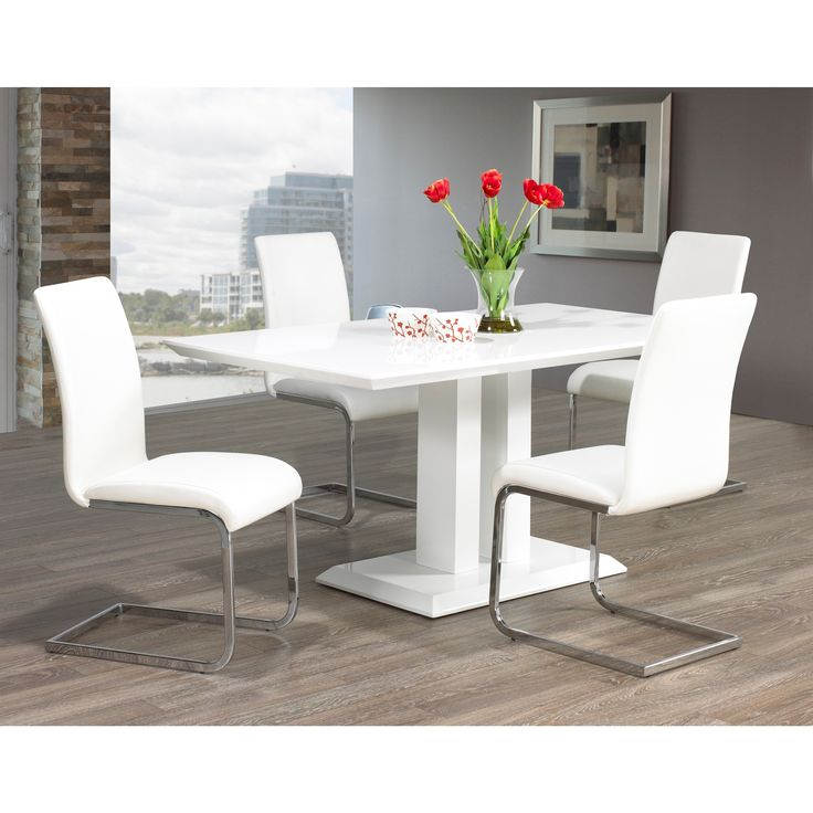 25 best ideas about White Leather Dining Chairs – Gray Leather Dining Room Chairs