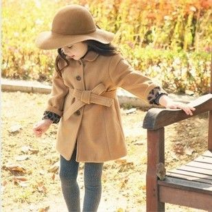 ta50212 2014 fashion style Children fall and winter clothes Korean lace woolen coat for kids $11.3~$15