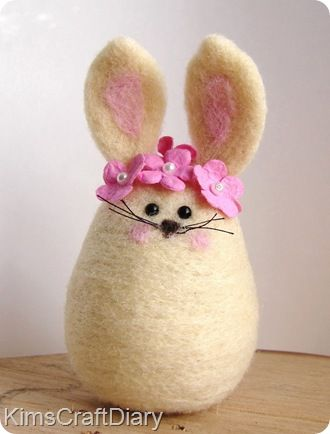 Bunny . . . way too cute, I think it'd be even cuter without the flowers but still very cute