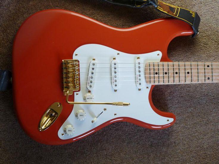 Hank Marvin custom shop replica Stratocaster built by Matt Sanders
