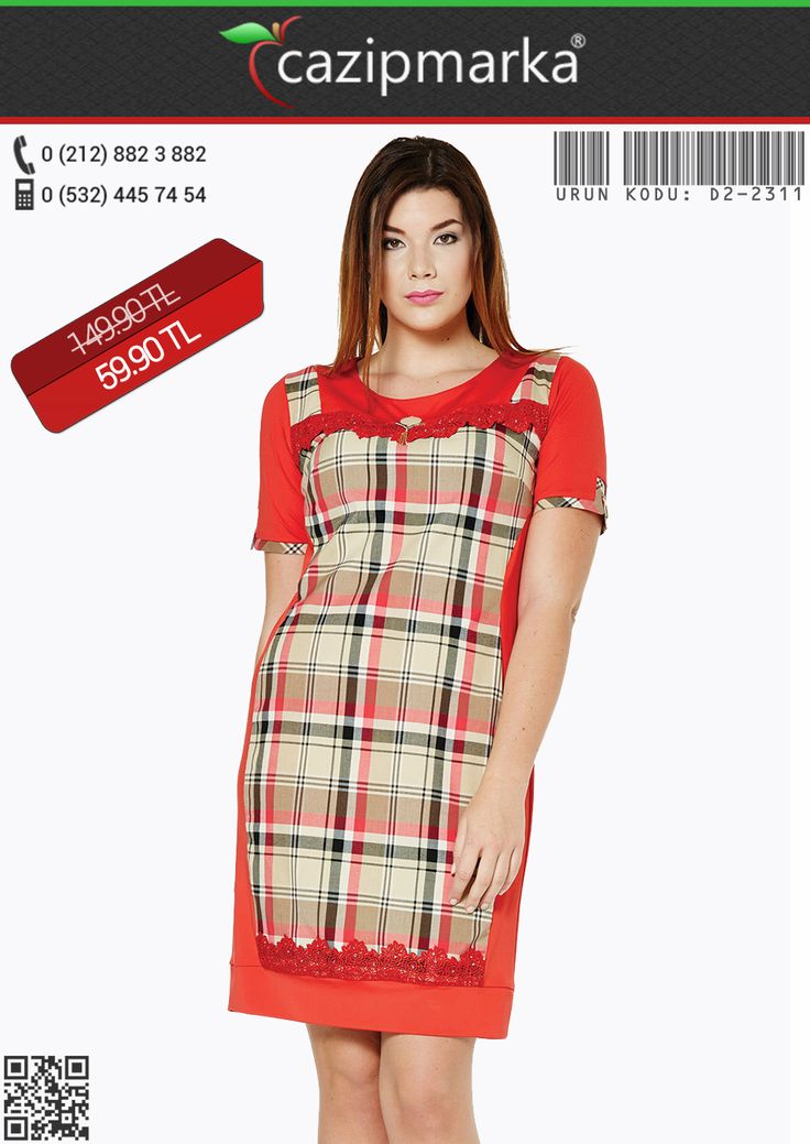 ★Büyük Beden Elbise✔ Önü ve Eteği Dantelli Ekose Garnili Elbise - 59,90 TL' ye Cazipmarka.com' da! ✔ #YeniSezon #KapıdaÖdeme #İndirim #Kampanya #hırka #babet #bluz #kaban #kazak #tunik #elbise #moda #sezonu #başladı #yepyeniürünler #büyükbeden #elbiseler #cıvılcıvılrenkler