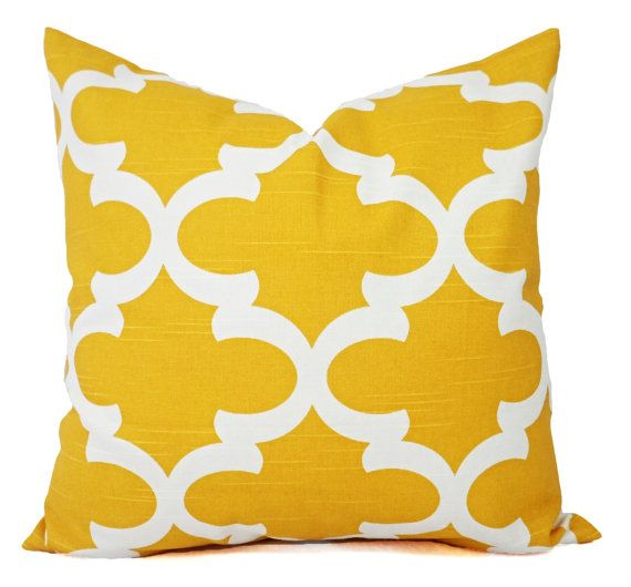 Yellow Decorative Pillows  Two Yellow Throw by CastawayCoveDecor, $32.00