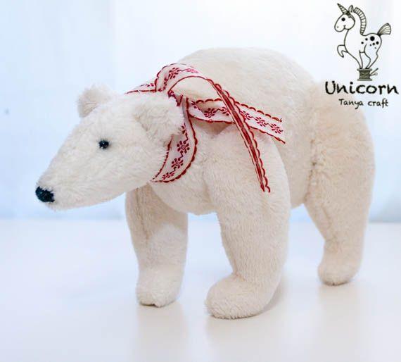 Тильда, полярный, медведь, белый мишка, мастер класс, процесс, выкройка, зима 2013