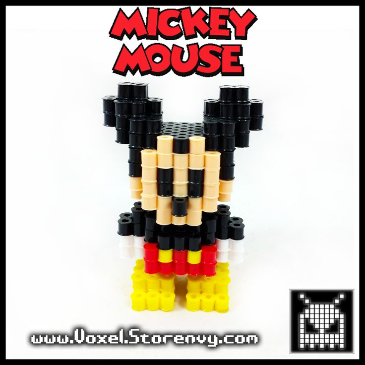 This is a Mickey Mouse (Disney Cartoon Character) I made in the cool new 3d perlerbead art style!   Products are made to order and do take about a week to make depending on the order.  Please Like Voxel on Facebook! http://facebook.com/voxelperlers  (These products are for sale, therefore ...