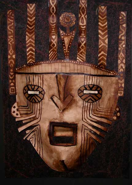 MASQUES AFRICAINS en BAS-RELIEF