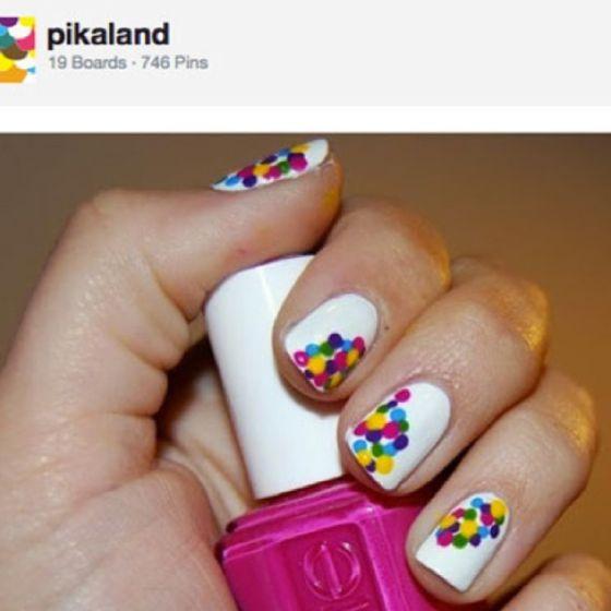 : Confetti Nails, Nails Art, Nailart, Cute Nails, Nails Design, Polkadot, Nailpolish, Polka Dots Nails, Nails Polish