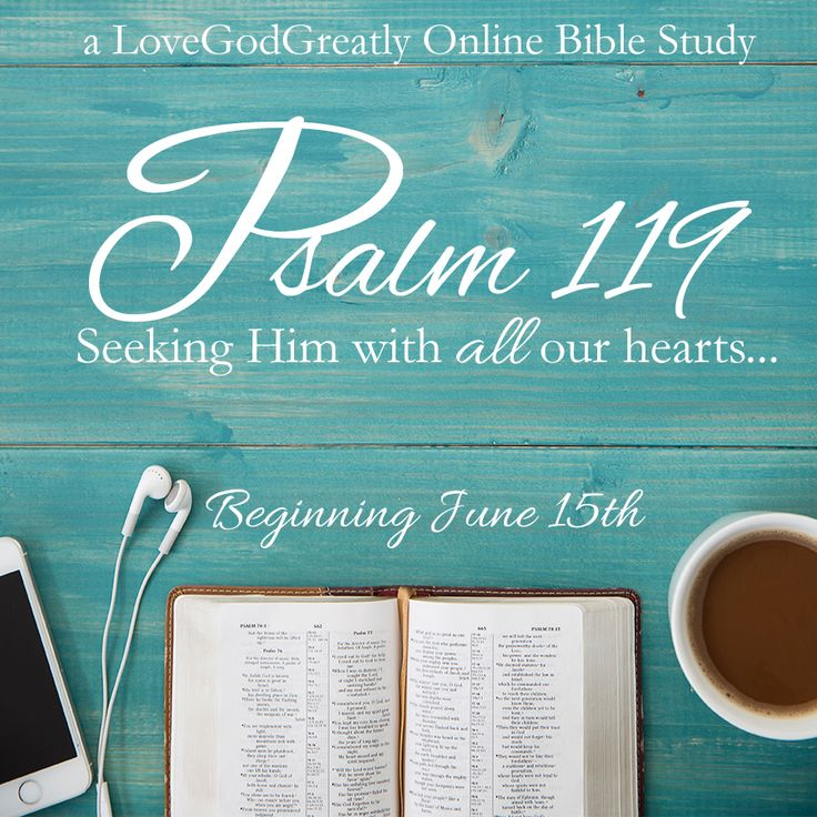 Psalm 119: Ladies Bible Study beginning June 15th at www.lovegodgreatly.com
