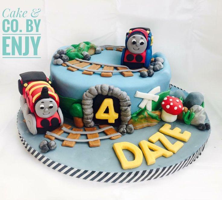 Thomas Train Cake  Www.facebook.com/cakeandco.byenjy/
