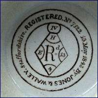 Pottery - Registration numbers and diamond - need 648066